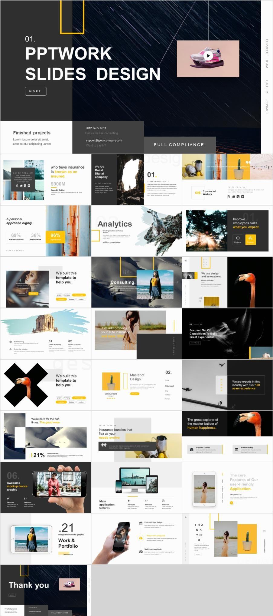 26 Marketing Analysis Design Powerpoint Template Marketing