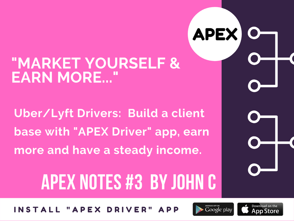 """""""Market yourself & earn more..."""" APEX Notes 3 by John C"""