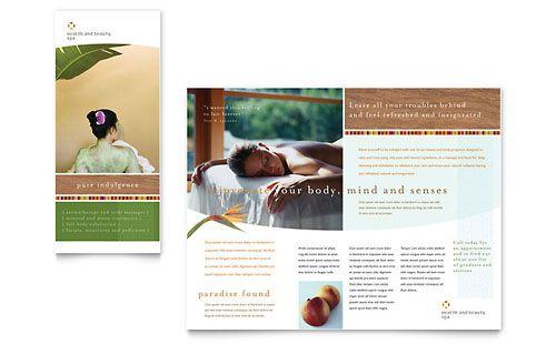 Health \ Beauty Spa Brochure Template Design StockLayouts - spa brochure template