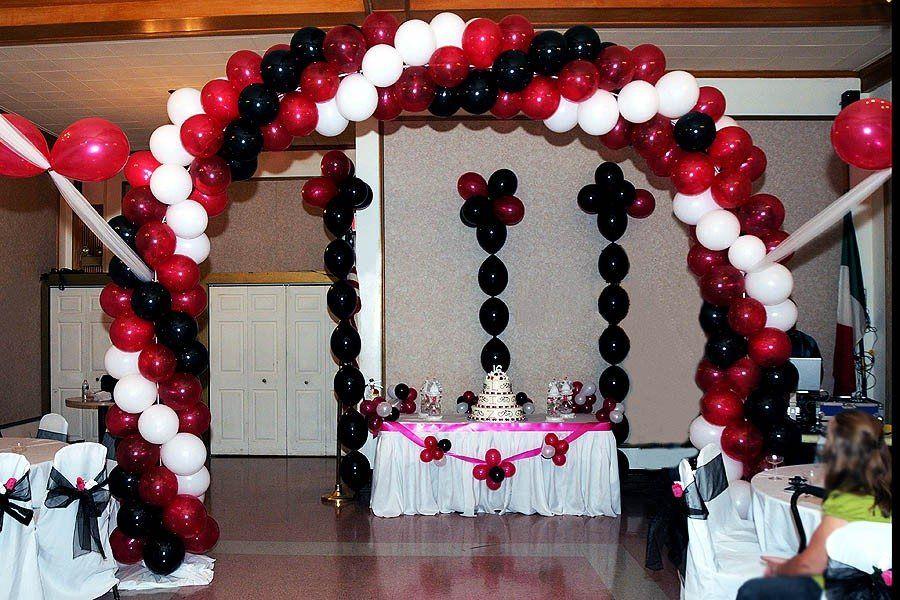 New York Birthday Anniversary Three Color Balloon Arch Arco De Globos Globos Arcos