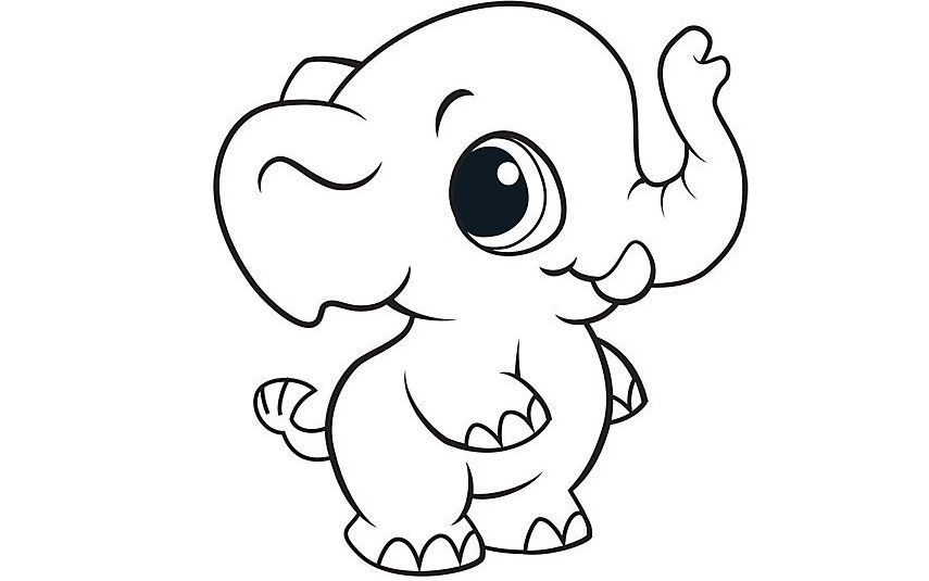 Baby Elephant Coloring Pages For Kids Cwm Printable Elephants Coloring Pages For Kid Elephant Coloring Page Farm Animal Coloring Pages Animal Coloring Books