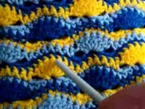 1 Crochet Wavy Shell Stitch - Pattern In More Info
