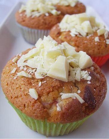 Mansikkasydän-muffinssit