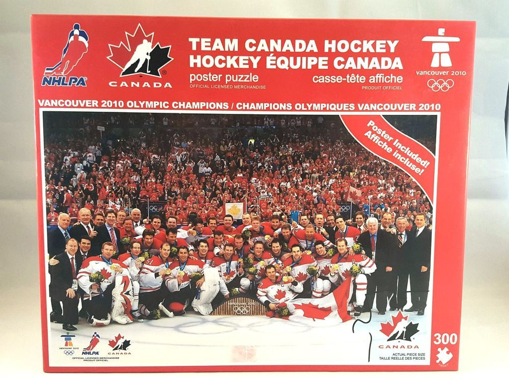 Hockey Team Canada Olympic Gold Champions Puzzle Vancouver