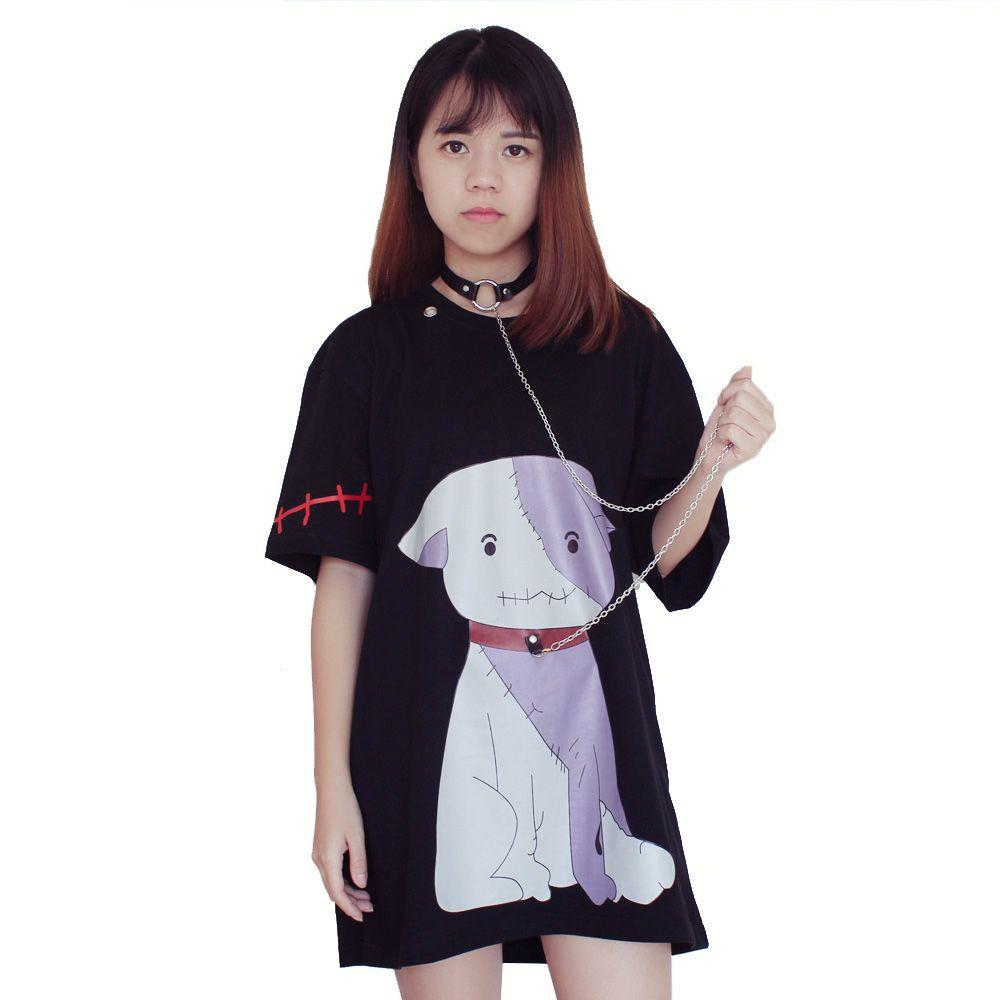 Aliexpress buy harajuku black t shirt women cartoon doge