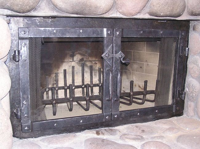 Captivating Wrought Iron Fireplace Doors | Door Designs Plans