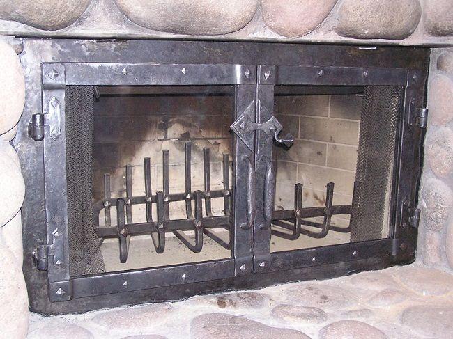 wrought iron fireplace doors | Door Designs Plans | door design ...
