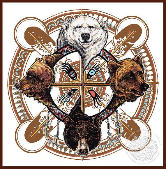 bear totem spirit shield print totems bears and studio