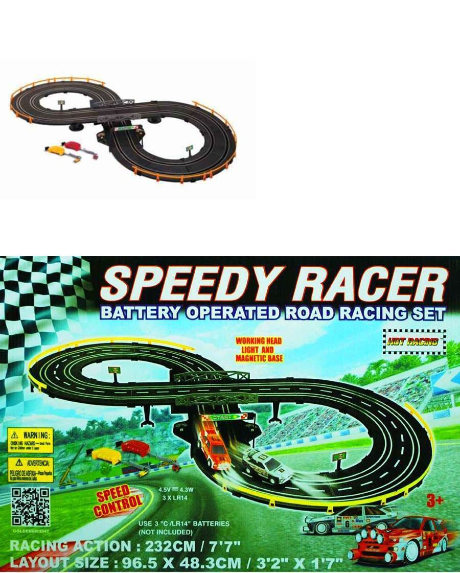 Cars 3 toys racers  Other Slot Cars  Golden Bright Battery Operated Speed Racer