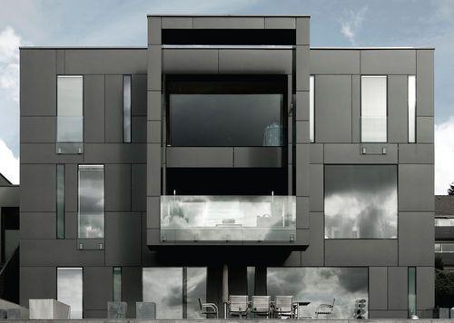 Interlocking Concrete Roof Tile Duo Modern Marley Eternit Facade Panel Exterior Wall Cladding Facade Material