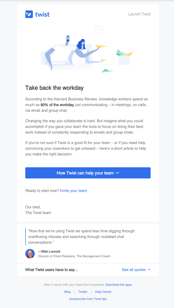 The Best Email Designs in the Universe (that came into my