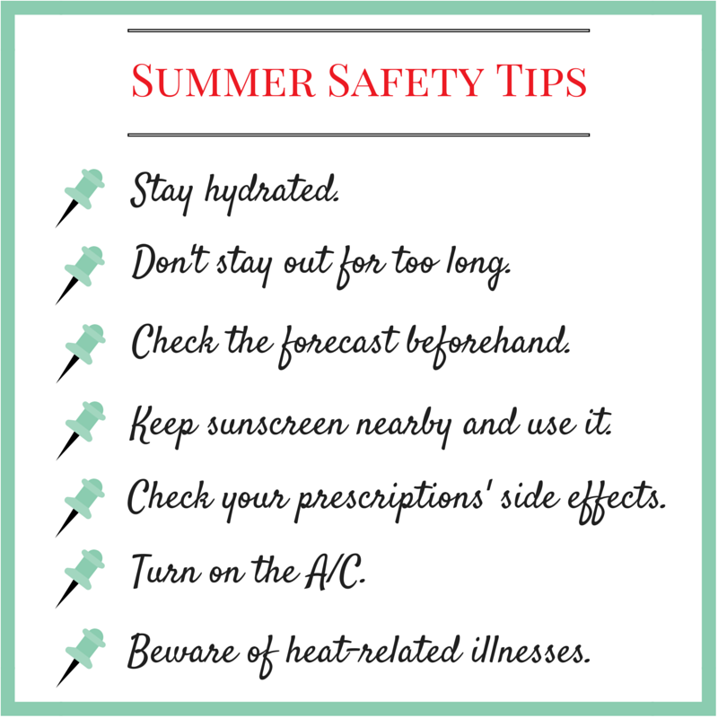 Summer Safety Tips for Seniors Summer safety tips