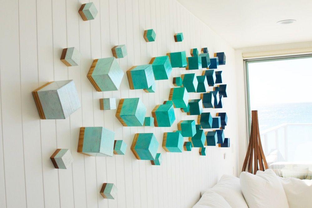 Wood Wall Sculpture   Modern Wall Decor   3D Wall Art   Original Art ...