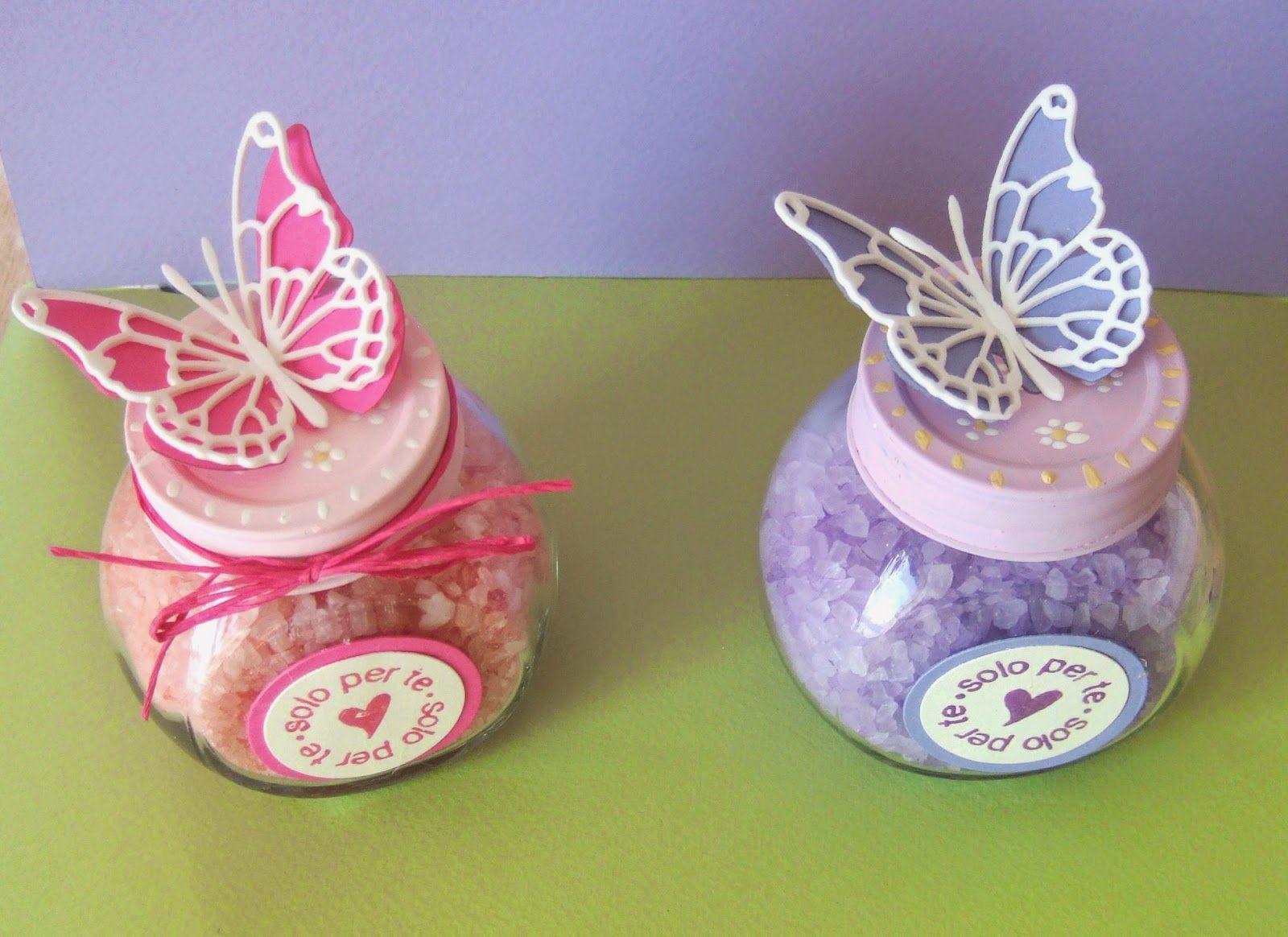 Vasetti porta sali da bagno con farfalla idee segnaposto - Perle da bagno sephora ...