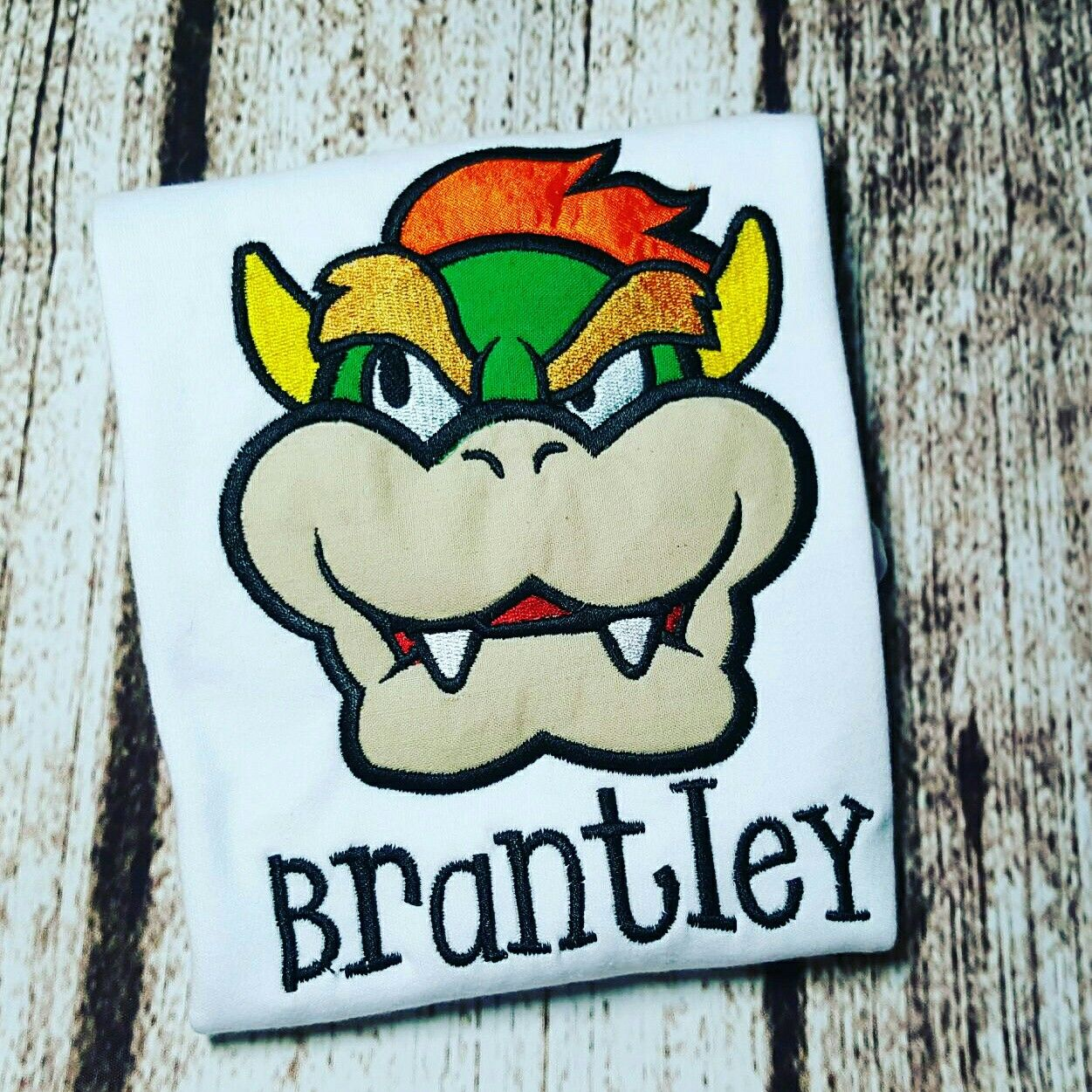 Bowser from super mario brothers birthday shirt