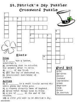 Saint Patick S Day Puzzler Freebie With Images St Patrick St