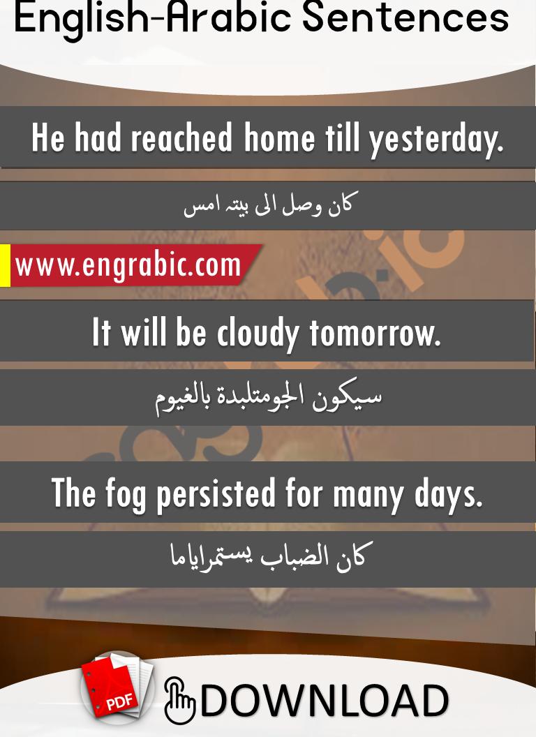 English To Arabic Sentences Set 17 Arabic Sentences Arabic Phrases Learn Arabic Language