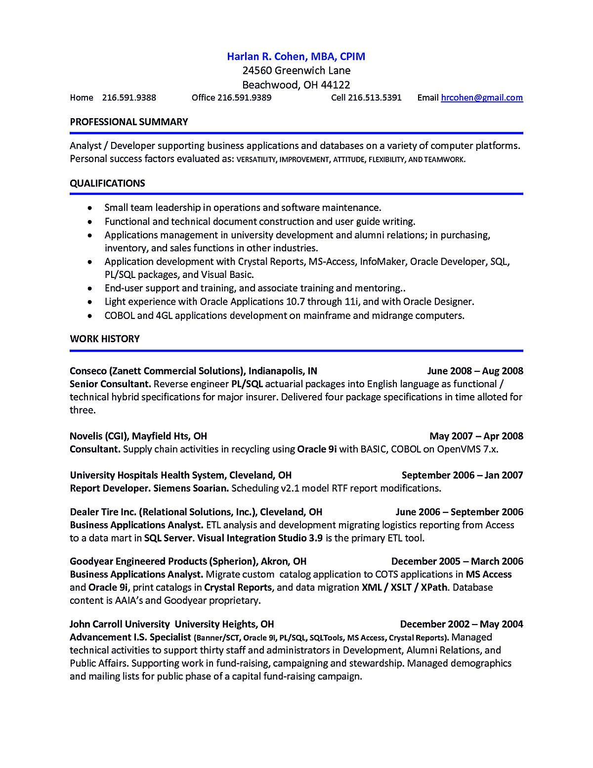 Account Receivable Resume Shows Both Technical And Interpersonal