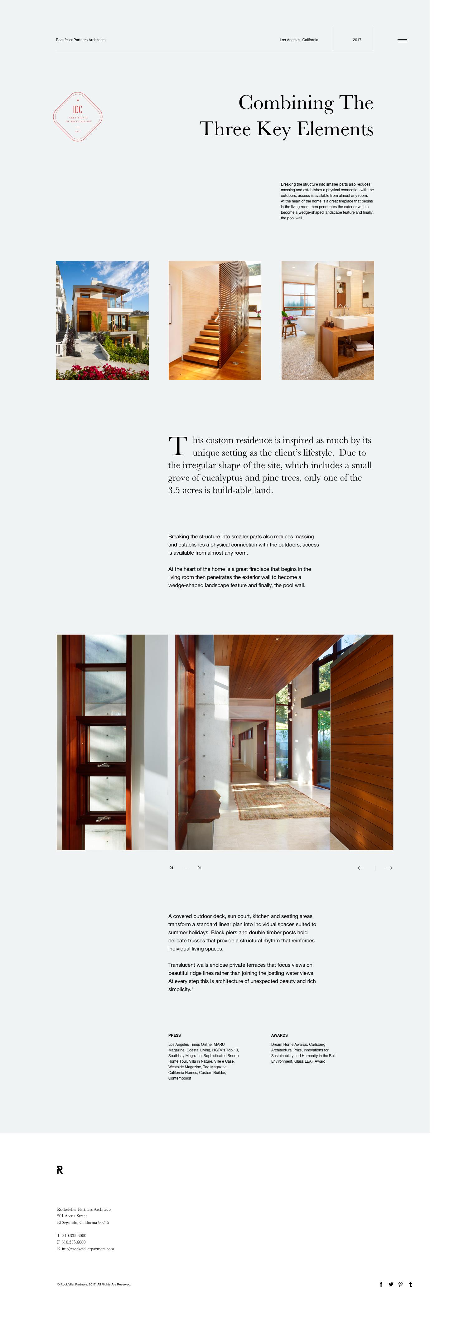 Rockefeller Partners Architects | #ui #ux #userexperience #website ...