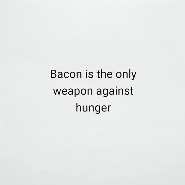 Bacon is the only weapon against hunger - http://ift.tt/1HQJd81
