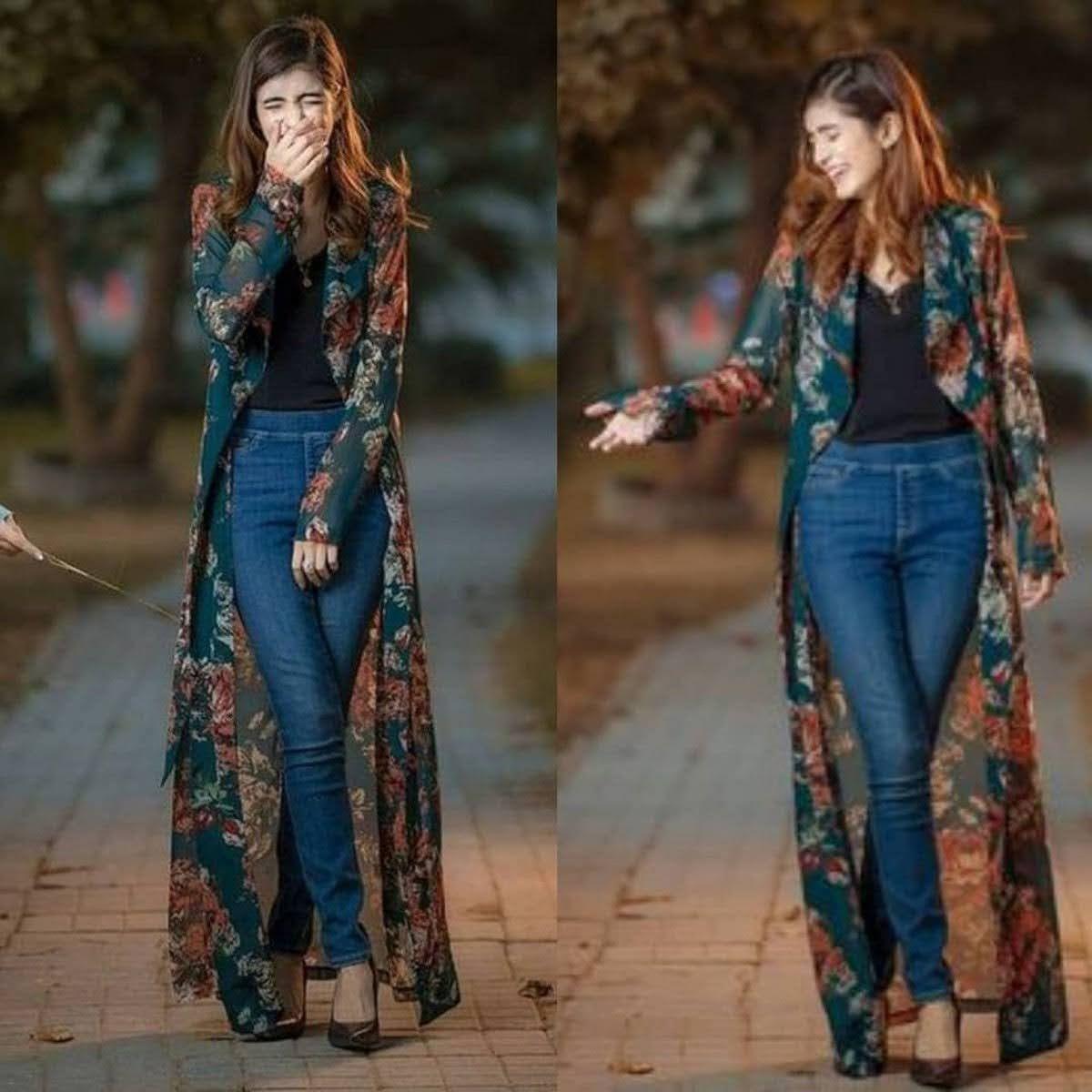 Pin By Mew Sugar On Chai Masala In 2021 Fashion Western Wear Outfits Long Shrug [ 1200 x 1200 Pixel ]