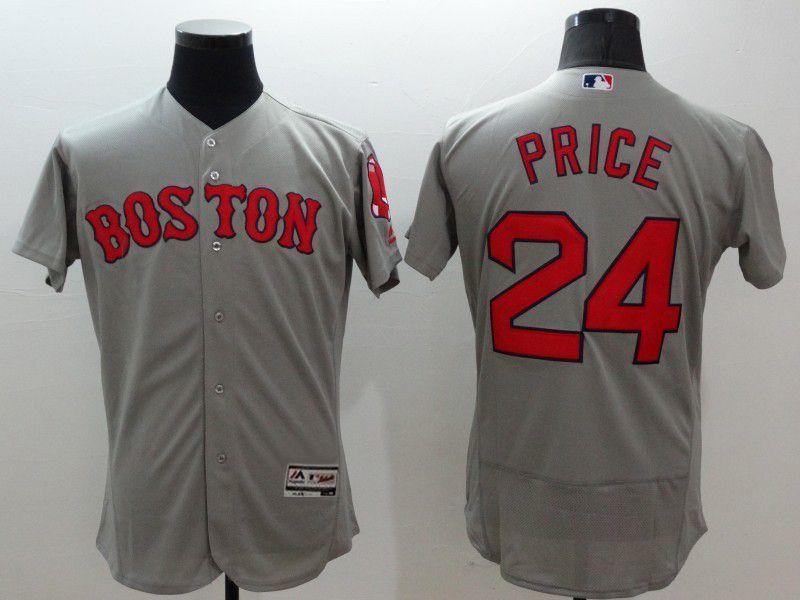 7da79ea79 Majestic Boston Red Sox  24 David Price Gray Flexbase Collection Jersey