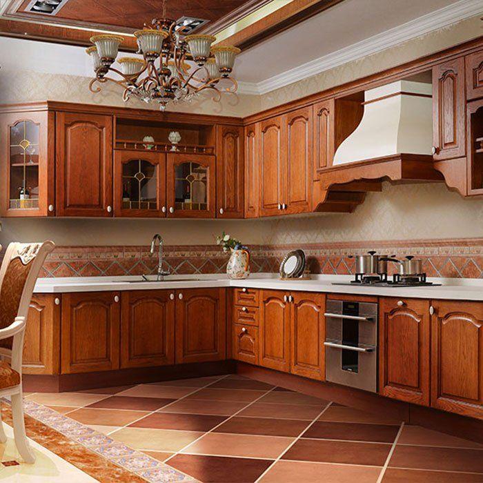 G003 Eiffel - American Red Oak Kitchen Quartz Stone ...