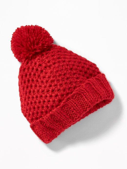 Old Navy Honeycomb-Knit Pom-Pom Beanie for Baby  2dffd739577f