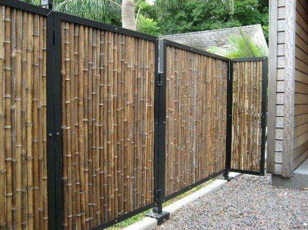 classic garden fence bamboo wood privacy screens garden
