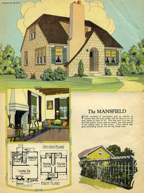 1925 Radford English Cottage Mansfield House Plan House Plans English Cottage Cottage Plan