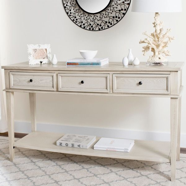 Perfect Safavieh Manelin White Washed Console