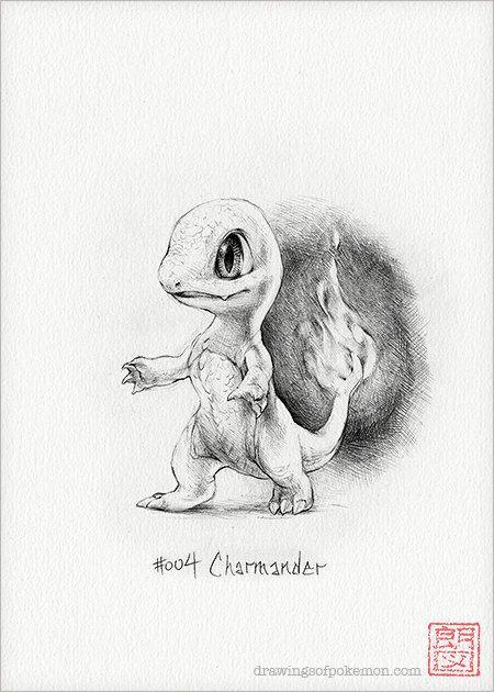 Charmander 5 X 7 Print Pokemon Drawing Art Artwork Gaming