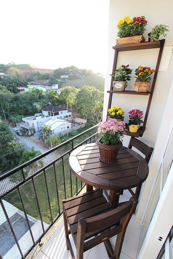 Varanda pequena Sacada pequena casa dani Pinterest Balcones - decoracion de terrazas pequeas