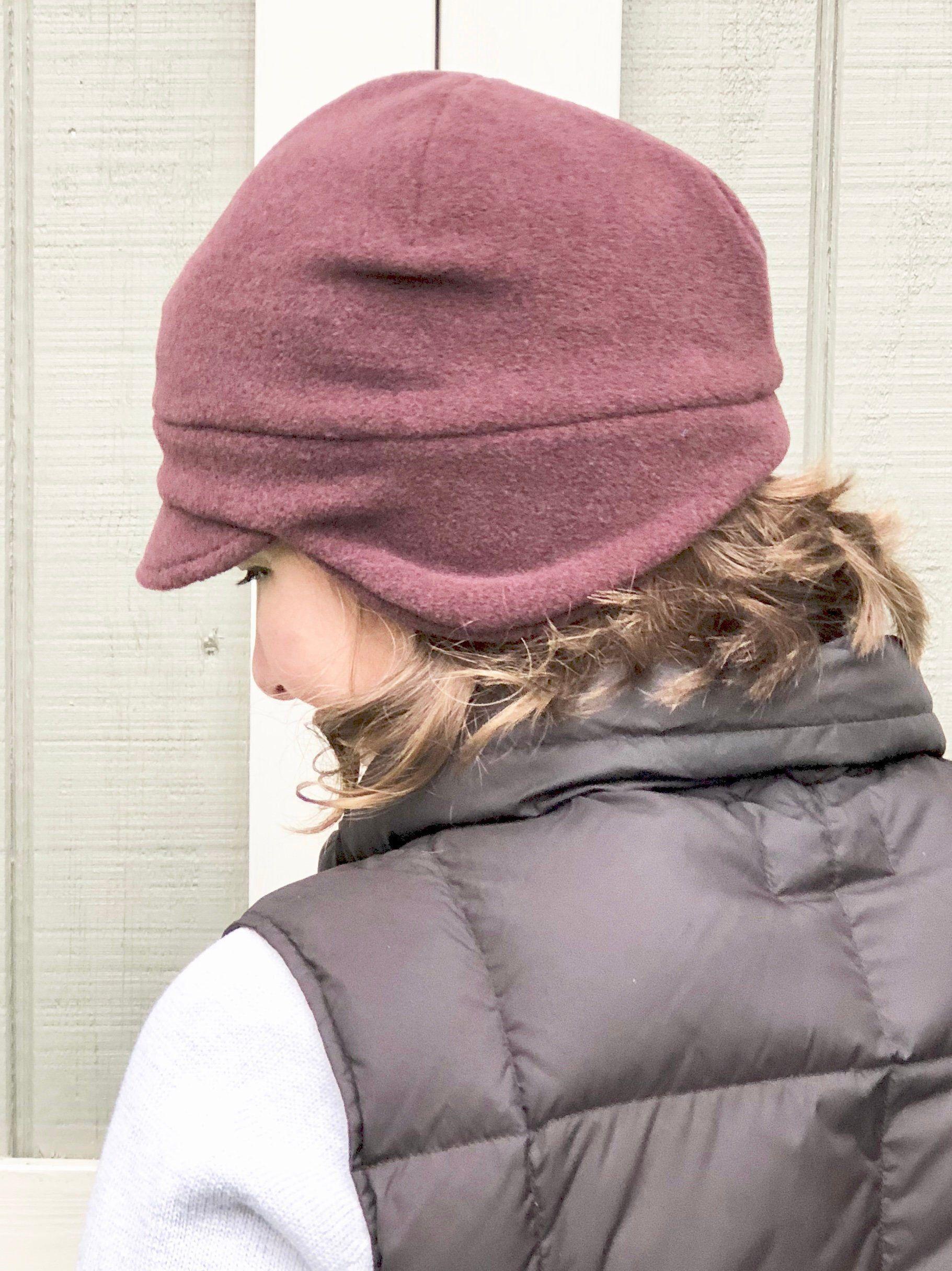 15b13ea2 Winter Fleece Hat, Earflap Beanie, Women's Earflap Hat, Adult Winter Hats,  Earflap Adult Beanie, Earmuff Fleece Hats, Adult Fleece Hat