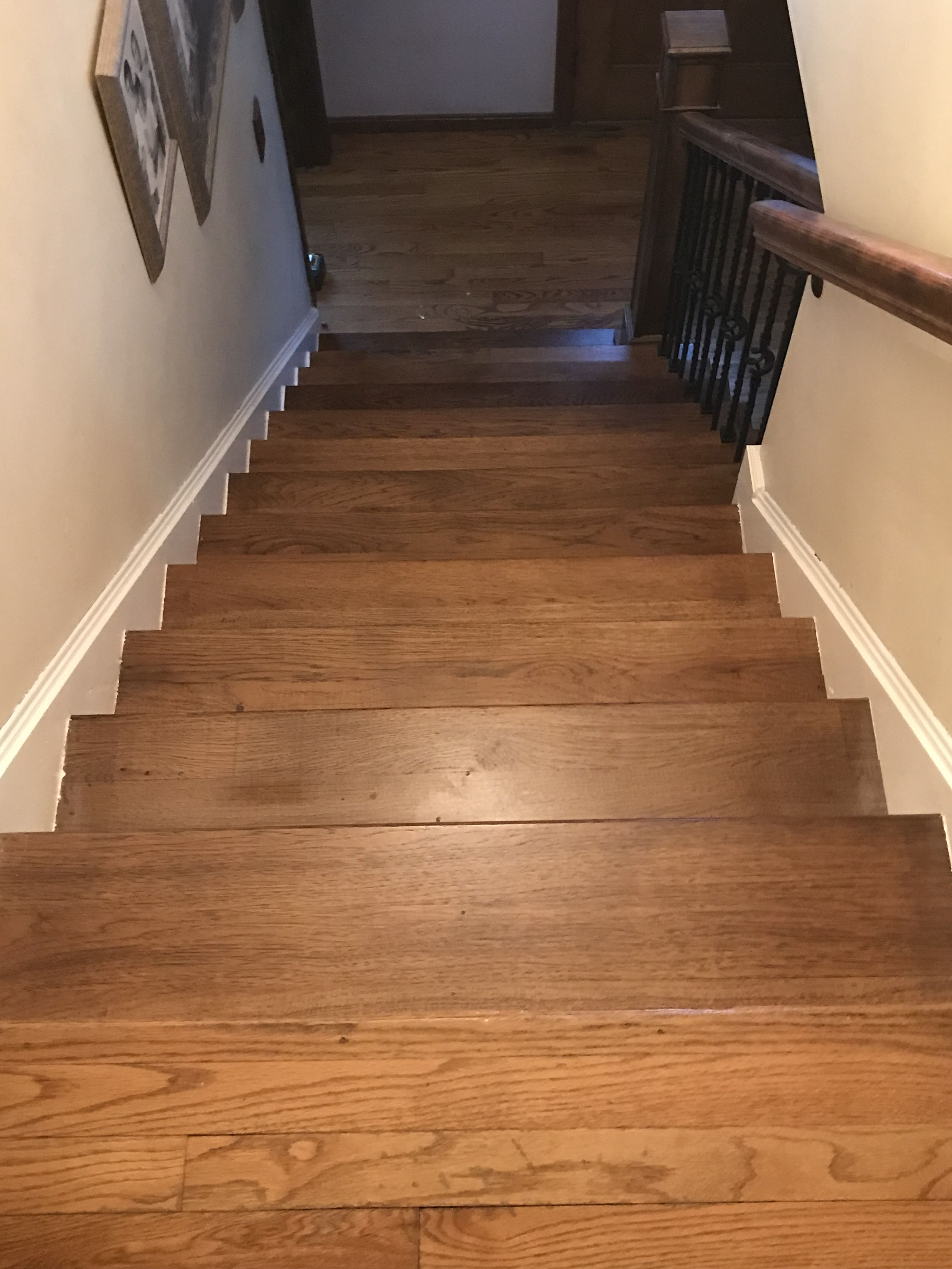 Gentil Custom Built Hickory Newel Post, Railing And Stair Treads Installed And  Built By Snhwoodworks LLC