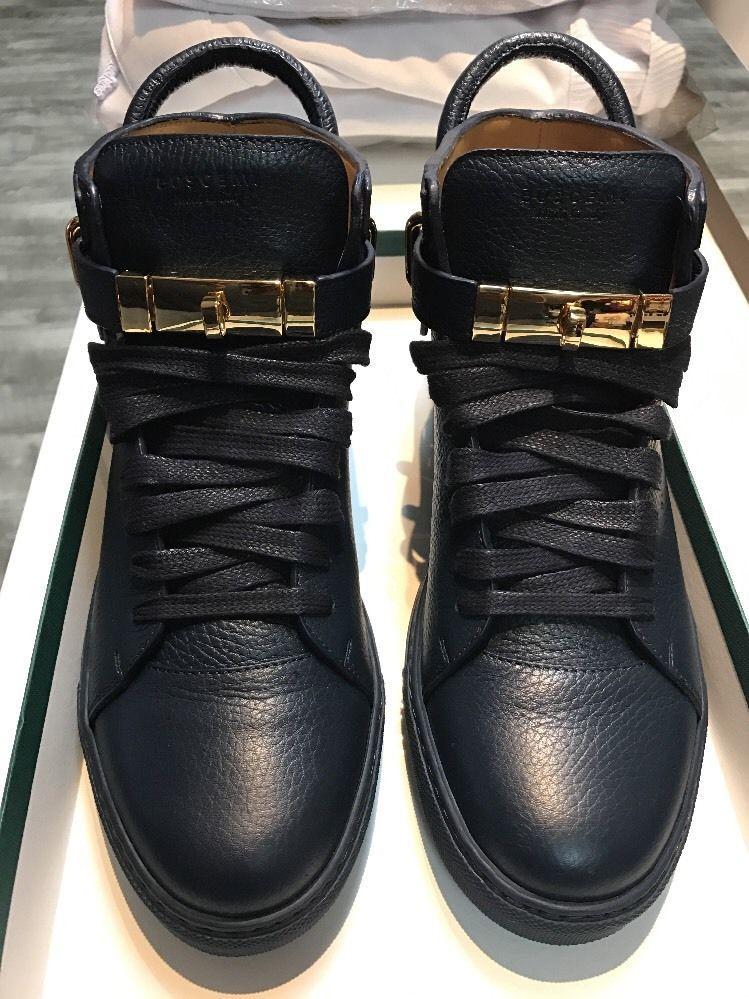 Sz Sneaker Leather 100mm 10 Men's Buscemi Navy Hightop Us Blue Eur 0Rw1A