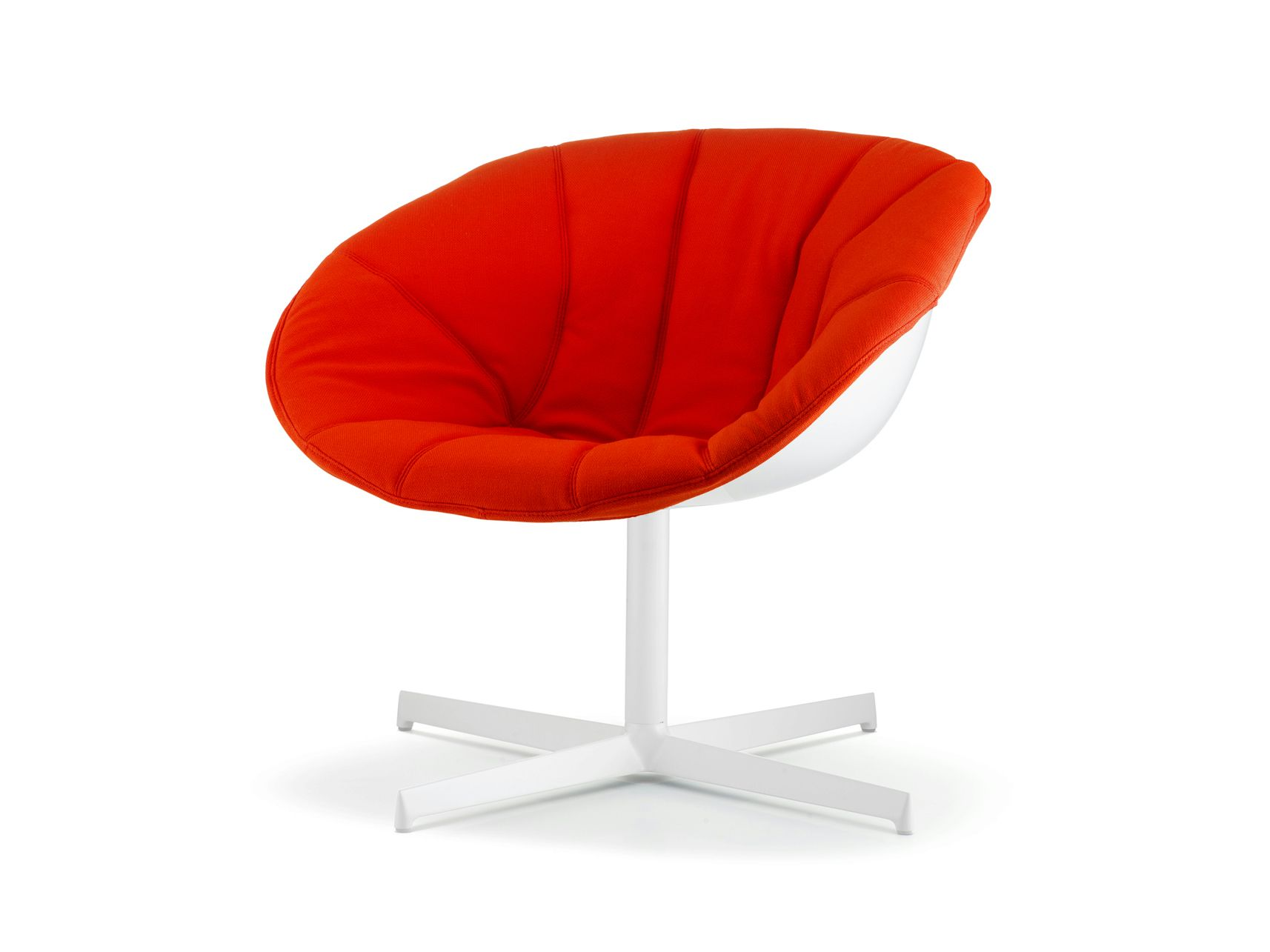 Technopolymer Easy Chair With 4 Spoke Base Gliss Lounge 340 3 Gliss Collection By Pedrali Design Claudio Dondoli Marco Pocci Chair Easy Chair Lounge