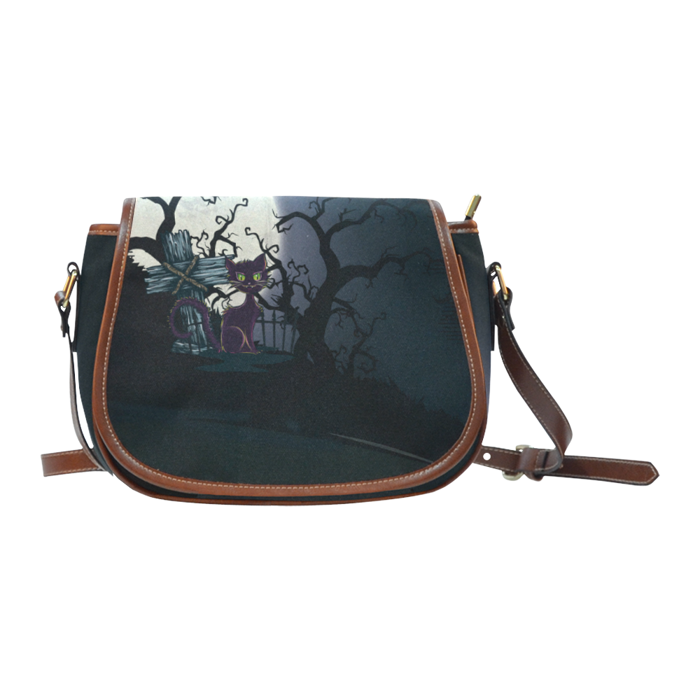 #Vintage #Halloween Cemetery #Cat Saddle #Bag /Large (Model 1649) thanks to the customer! sold at @artsad