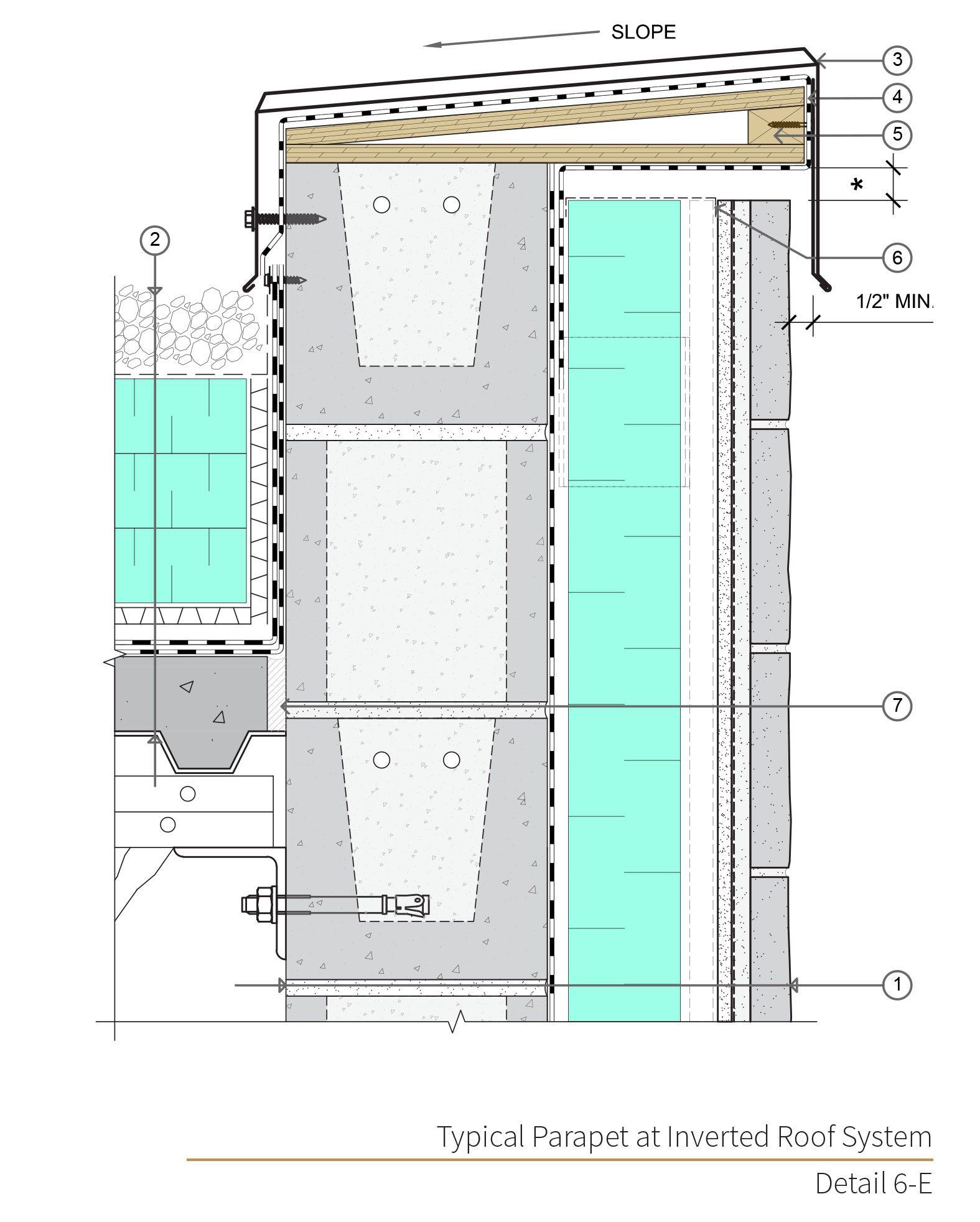 Assembly 6 Detail 6e Masonry Veneer Masonry Concrete Masonry Unit