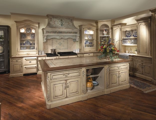 french country style kitchen furniture french country comfort habersham home - Habersham Cabinets Kitchen