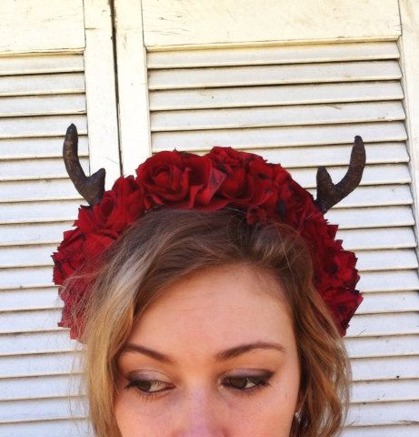 Antler Crown Realistic Antler Headband Goth by JenaDelFey on Etsy, $30.00