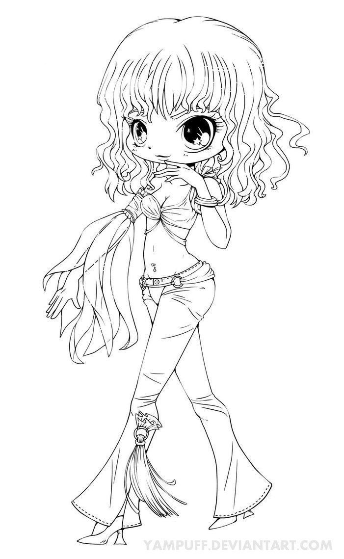 Coloring pages chibi - Britney Spears Chibi Lineart Slave 4 U By Yampuff On Deviantart