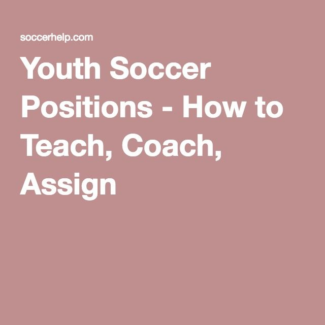 Youth Soccer Positions How To Teach Coach Assign Soccer Positions Youth Soccer Coaching Youth Soccer