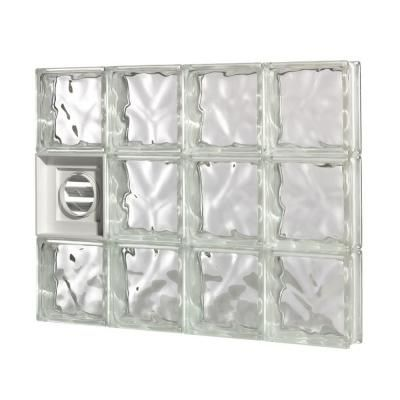 Tafco Windows 15 75 In X 31 625 In Nailup2 Wave Pattern Solid Glass Block Window Nu2 3216ws Glass Block Windows Glass Blocks Glass Block Basement Windows
