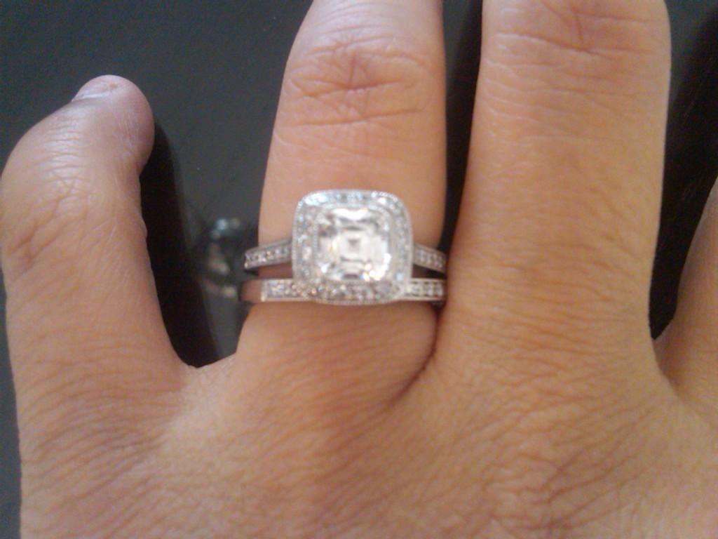 15 Carat Engagement Ring On Finger 13