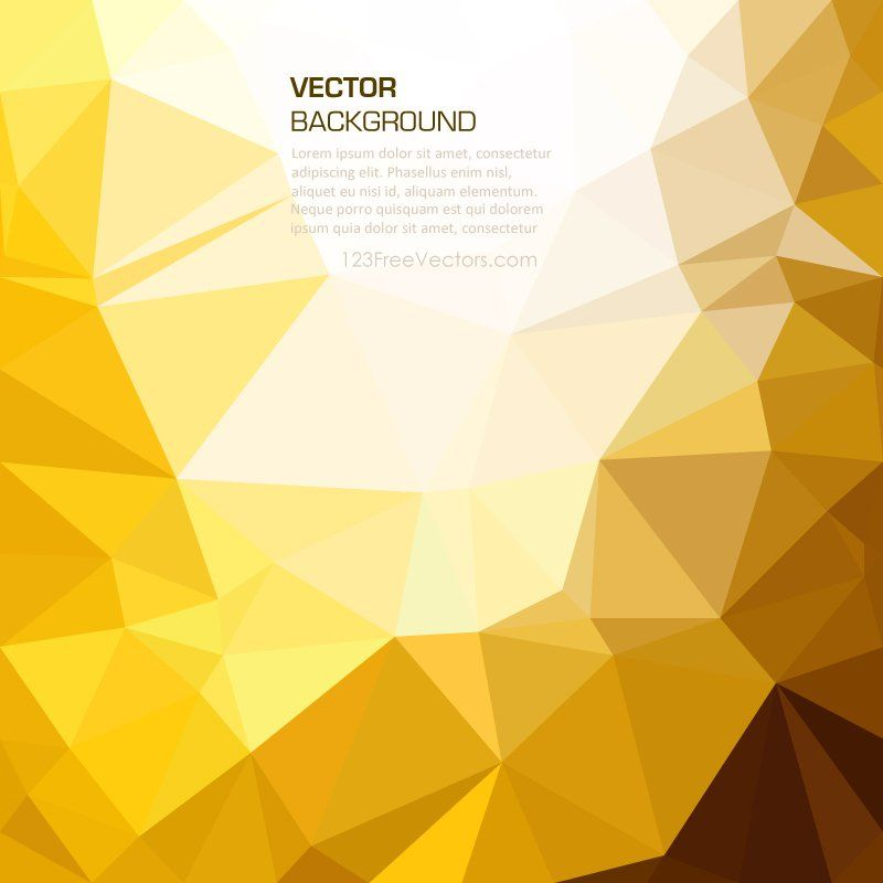 gold abstract polygonal background template gold background