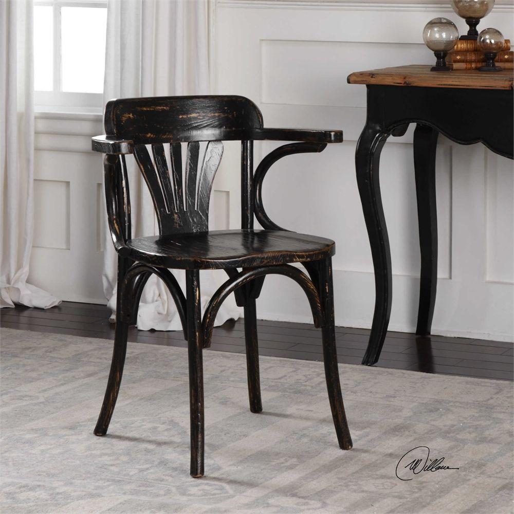 Uttermost Huck Accent Chair Black Black Accent Chair Chair Accent Chairs