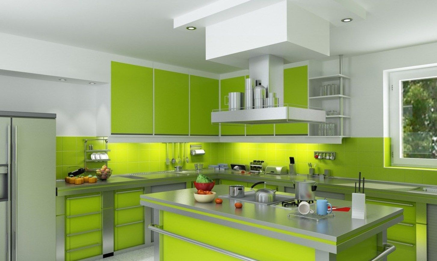 23 Green Kitchen Cabinets Ideas For Your Kitchen Interior Modern Kitchen Paint Green Kitchen Designs Kitchen Remodel