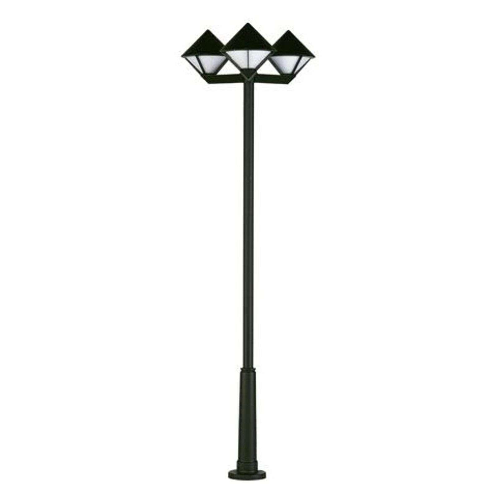 Moderne Mastleuchte 181 Schwarz 3 Flammig Lantaarnpalen Buitenverlichting Licht
