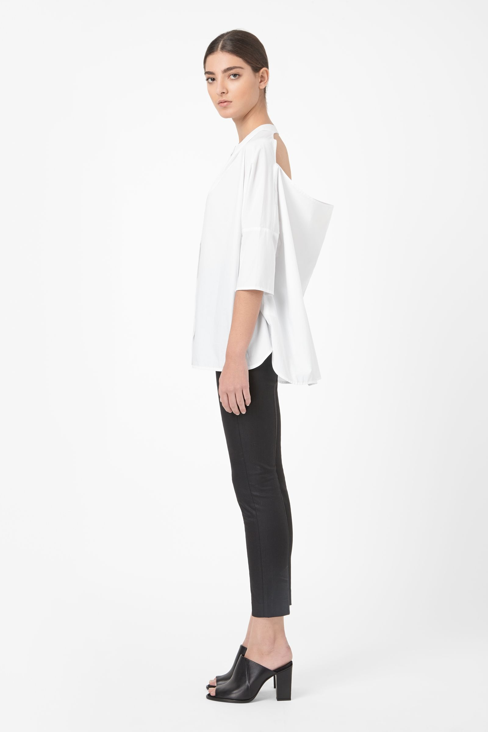 8b0fbf1c7c8c COS - Shirt with open back | Go chic with a great white blouse ...